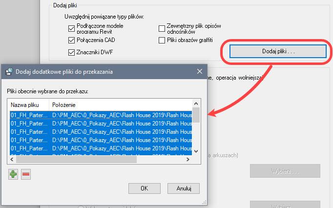 eTransmit - Przygotowanie pakietu plików projektu Revit - na